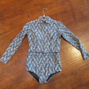 Long Sleeve Swim or Surf Suit Size Large NWOT